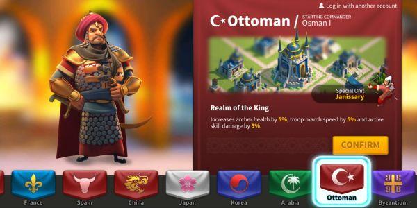 rise of kingdoms ottoman