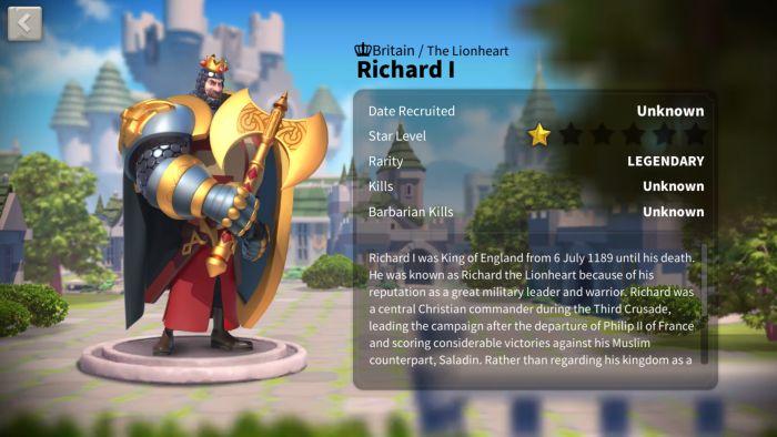 rise of kingdoms richard 1