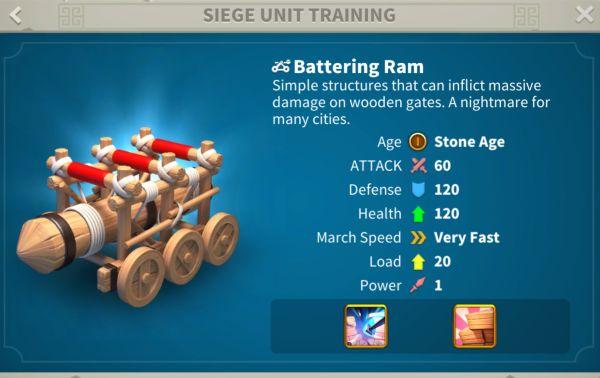 rise of kingdoms siege units 1