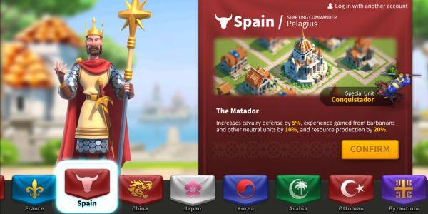 rise of kingdoms spain