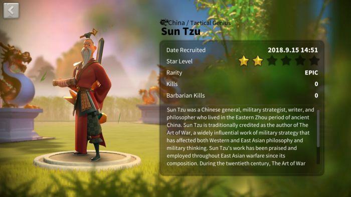 rise of kingdoms sun tzu