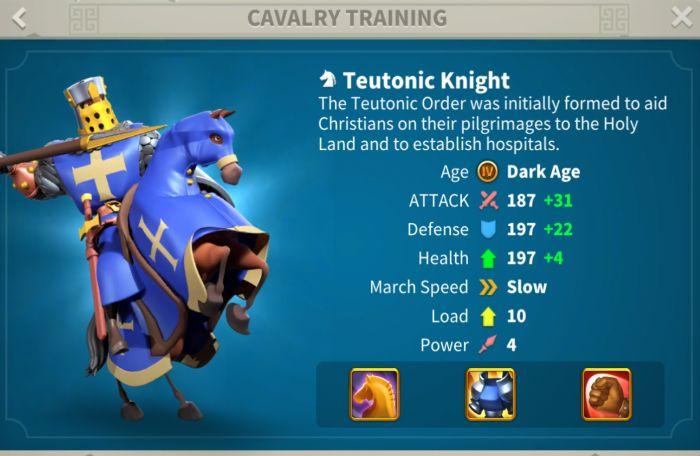 rise of kingdoms teutonic knight