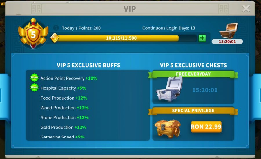 rise of kingdoms vip level featured image