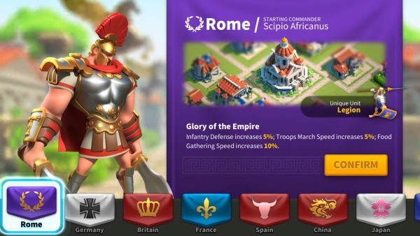 rise of kingdoms what nation to choose 1